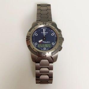 Tissot T-Touch Titanium Blue Dial Men's Watch